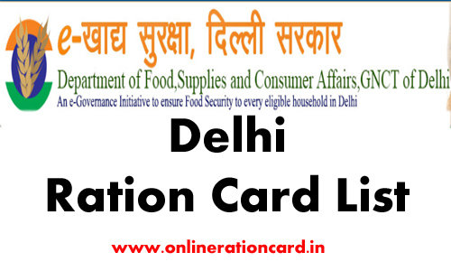 Delhi Ration Card List
