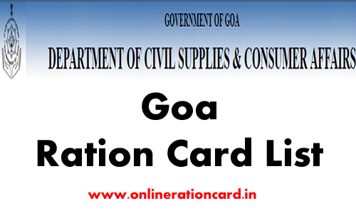 Goa Ration Card List