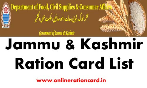 Jammu & Kashmir Ration Card List