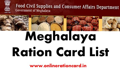 Meghalaya Ration Card List