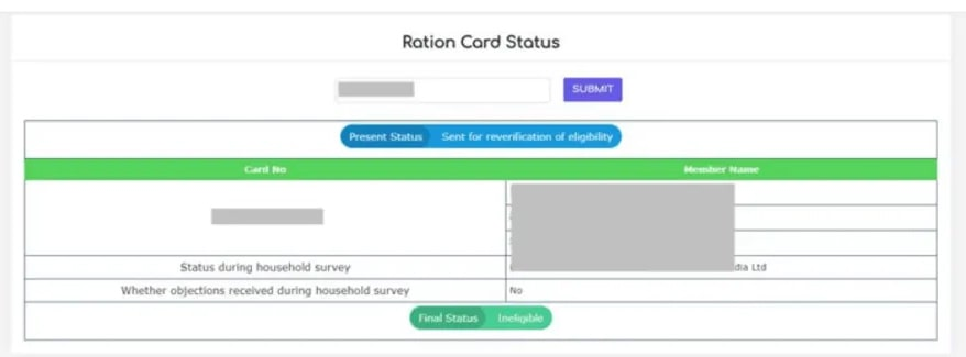 AP Rice Ration Card Status 1