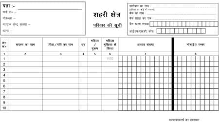 Jharkhand Ration Card application form